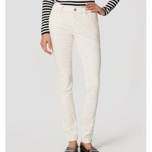 Loft cream relaxed skinny corduroy jeans 8